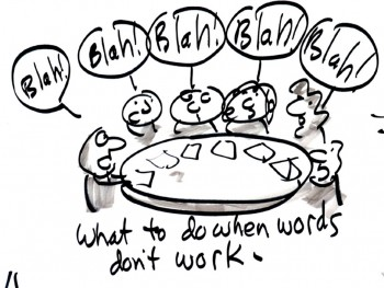 What to do when words don't work, Graphic Recording by Keith Bendis