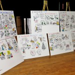 Graphic Recording boards Keith Bendis